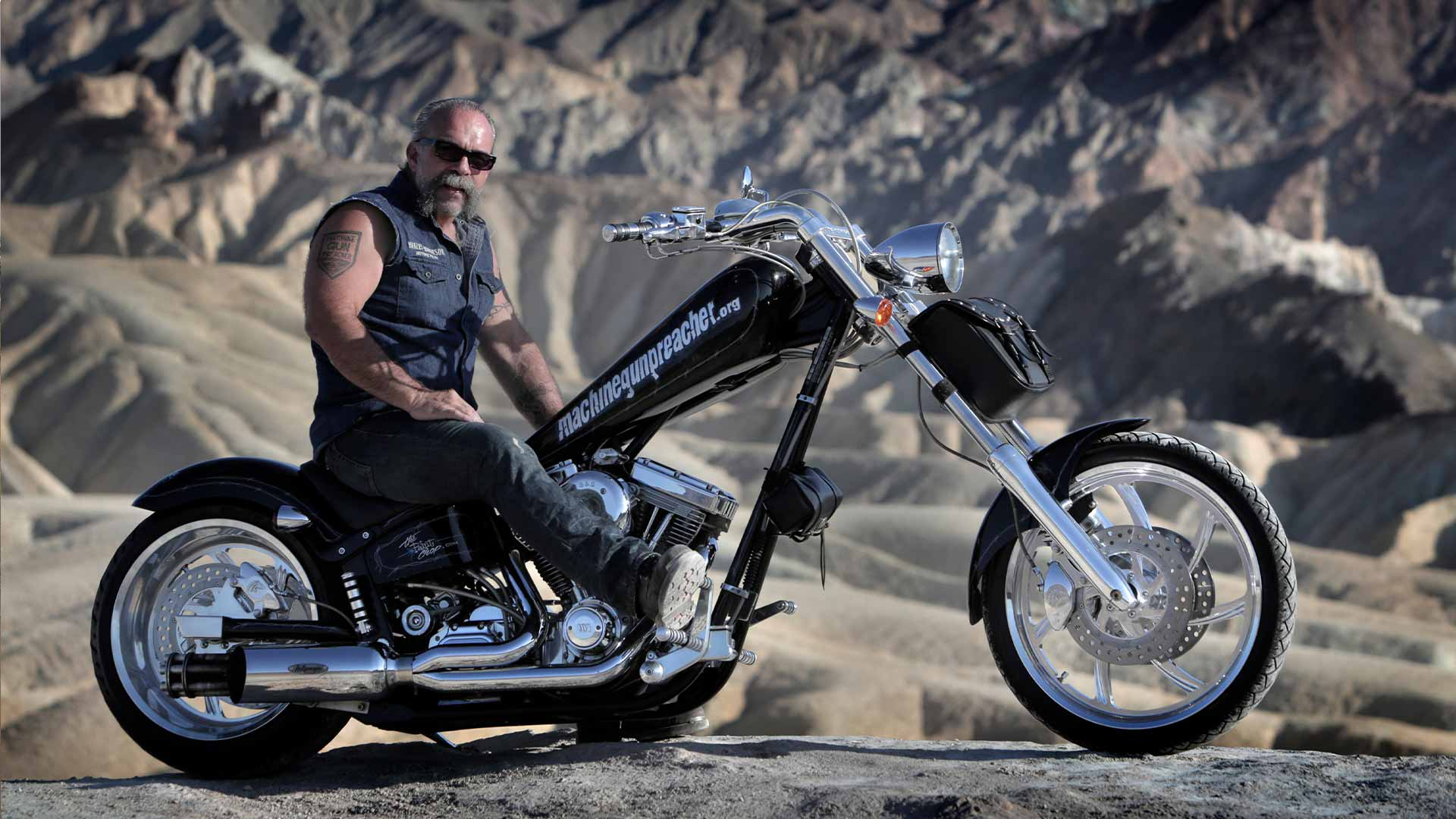 Sam Childers on his bike